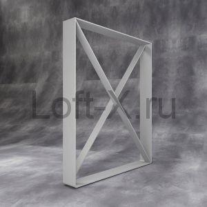 Опора стола в стиле ЛОФТ - серебристо-серая
